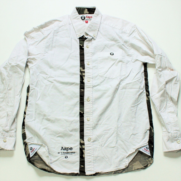77296a09383b Bape Other - Authentic AAPE By A Bathing Ape Button Down Polo